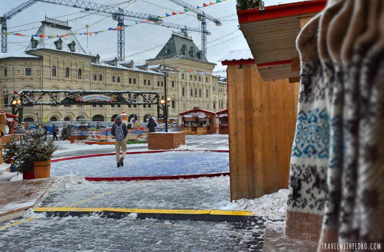 O Mercado Natalino da Praça Vermelha, Moscou
