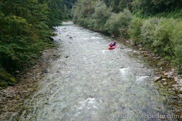 Rafting no Rio Savinja na Eslovênia