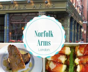 Norfolk Arms Where To Eat in London
