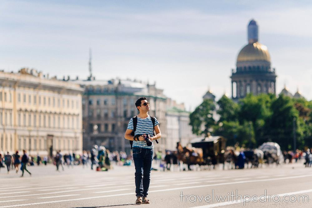 My Professional Photo Shoot in St Petersburg - Travel with Pedro